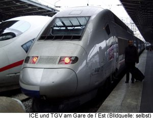 ICE TGV europeen Gare de l´Est Paris