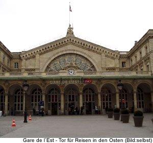wichtige ziele Gare de l´Est Paris