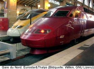 thalys eurostar gare du nord paris