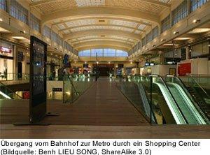 Nahverkehr Zentrum Gare de l´Est Paris