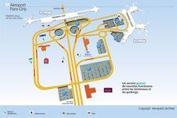 Orly Aeroport Paris Tipps Karte