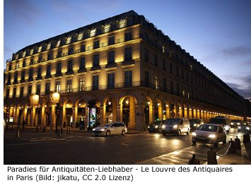 Antiquitäten Paris Le Louvre des Antiquaires Markt