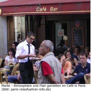 Markt Flohmarkt Atmosphäre Café Paris Flair Einkaufen