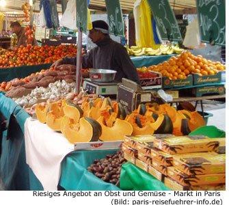 Paris Markt Obst Gemüse Lebensmittel Auswahl Marche