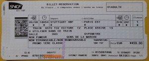 Günstiges TGV Ticket Fahrschein