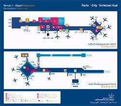 Orly Flughafen Paris Terminal Karte