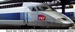zug tgv transfer Paris FLughafen Gaulle
