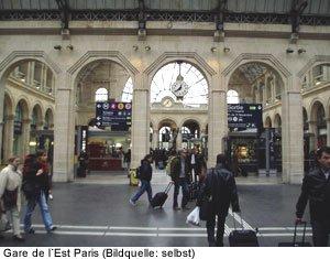 Gare de l´Est Paris - Ostbahnhof