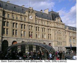 Gare St Lazare Bahnhof Paris