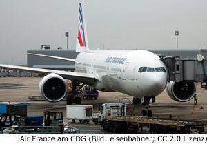 Airline Fluggesellschaft Paris Charles de Gaulle CDG Flughafen Airport