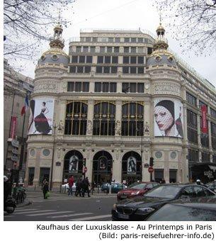 Au Printemps Paris Einkaufen Luxus Designer Kaufhaus Shopping