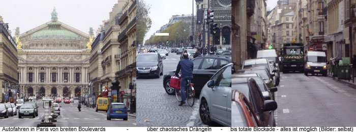 Anreise Auto in Paris autofahren