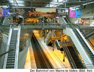 Disney Paris Bahnhof Zug Anfahrt Preis