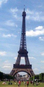 Eiffelturm Paris anstehen Schlange