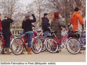 Fahrrad Tour durch Paris, Sightseeing mit dem Fahrrad