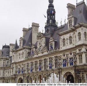 Rathaus von Paris Hôtel de Ville de Paris