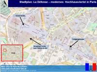 Karte La Defense Paris Plan