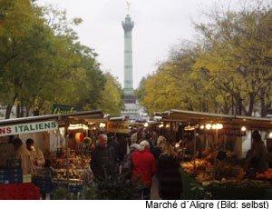 Flohmarkt Wochenmarkt Paris