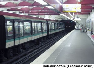 Metro Öffentlicher Nahverkehr in Paris