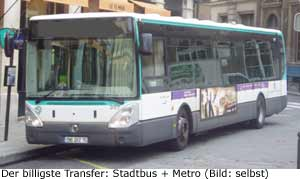 Orly Zentrum Paris Transfer Billig Bus Metro