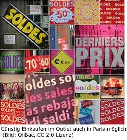 Outlet Paris Shopping günstig Schnäppchen Designer Sale