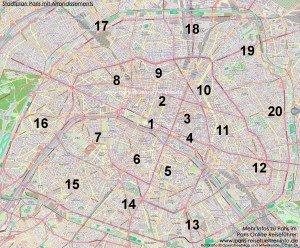 Arrondissement Paris Karte Plan