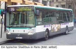 Paris Bus Stadtbus Omnibus Nahverkehr
