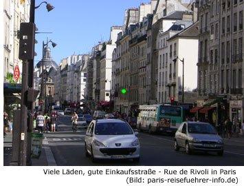 Gut Einkaufen Shopping Paris Rue de Rivoli Läden