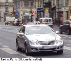 Taxi Tipp Preis Verkehr Paris