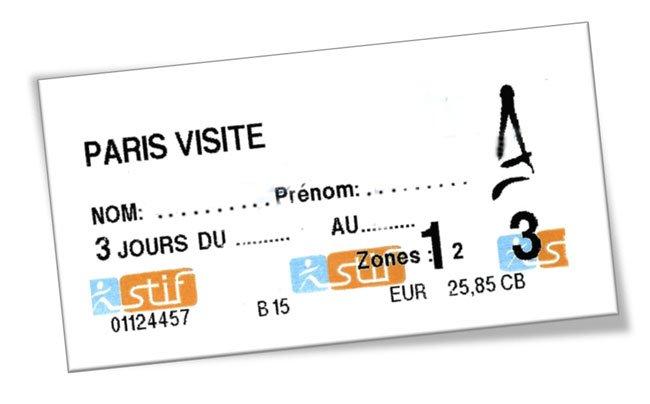 Paris Card 3 Tage
